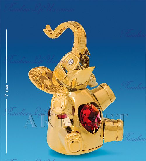 "Фигурка слоник неваляшка с кристаллами ""Swarovski"""