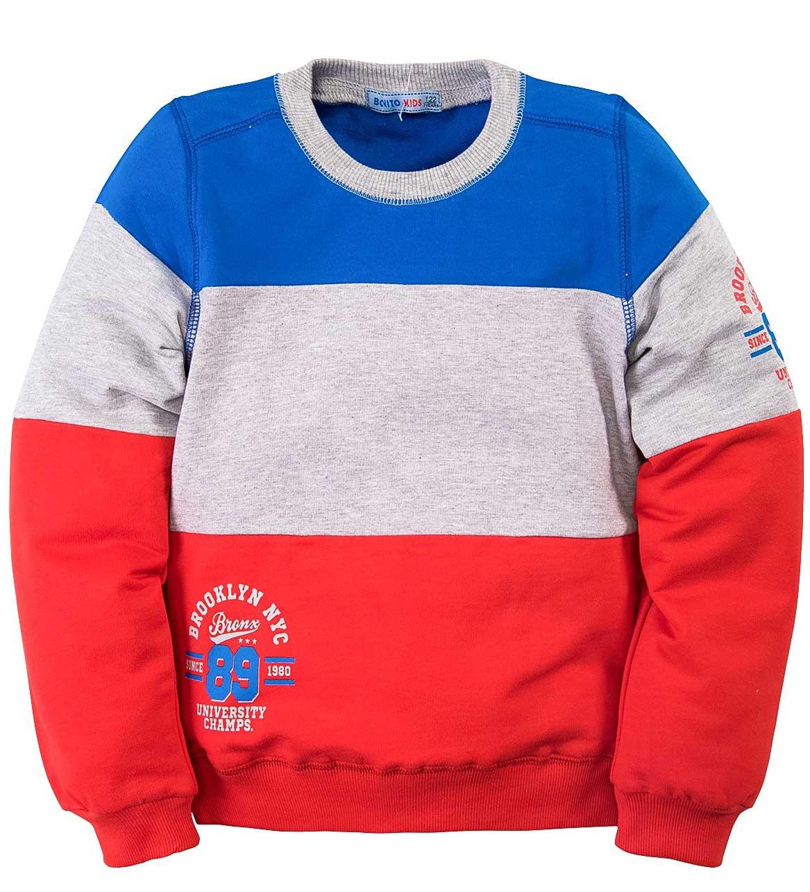 Джемпер для мальчика Bonito синий с красным