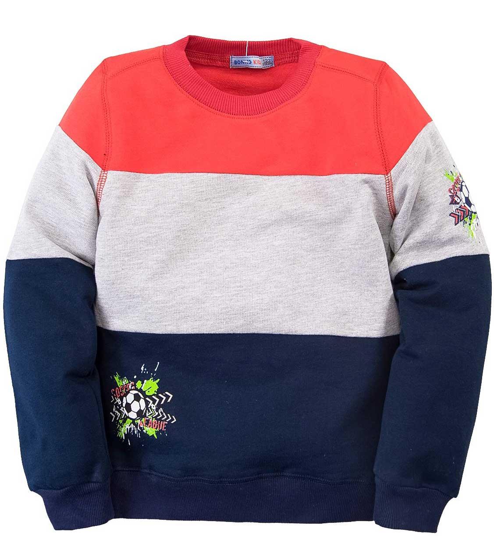 Джемпер для мальчика Bonito красный с темно-синим