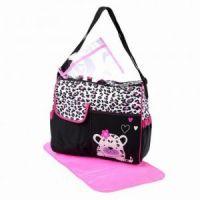 Многофункциональная сумка для мам с пеленкой Зверята, 39х15х32 см цвет розовый рис 3