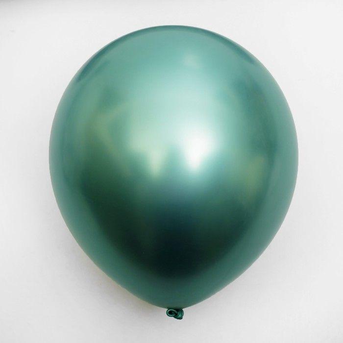 """Шар хром зеленый 12"""" 30см"""