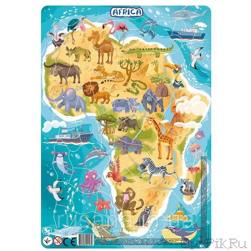 """Пазл в рамке """"Африка"""" 53 элемента"""