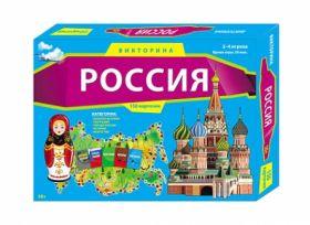 ВИКТОРИНА. 150 карточек. РОССИЯ (арт. ИН-0074)