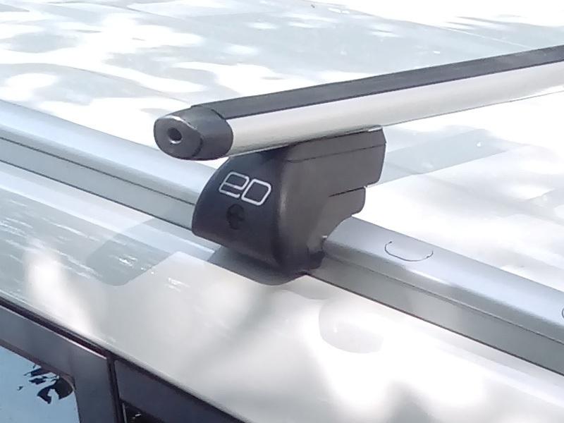Багажник на интегрированные рейлинги Hyundai Tucson 2016-..., Евродеталь, аэродинамические дуги