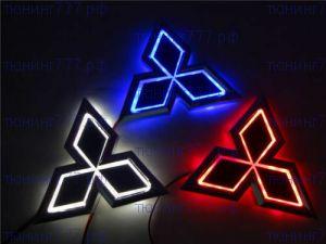 Эмблема 5D, подсветка LED, выбор цвета