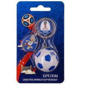 Брелок с мячом Чемпионат мира по футболу FIFA RUSSIA 2018 года