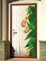 Наклейка на дверь - Мягкий свет | магазин Интерьерные наклейки