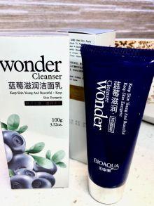 Пенка для лица с экстрактом черники Wonder Cleanser очищающая,100 гр