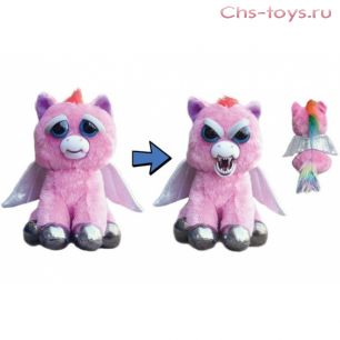Игрушка Feisty Pets Дракон розовый с крыльями