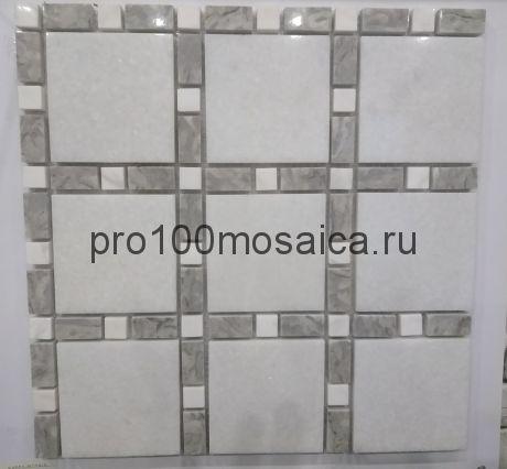 KA77 Мозаика серия Камень размер чипа 80*80, 30*15, мм: 300*300*8 (Happy Mosaic)