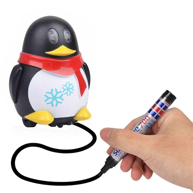 Индуктивная игрушка Пингвин с LED сенсором, цвет черный