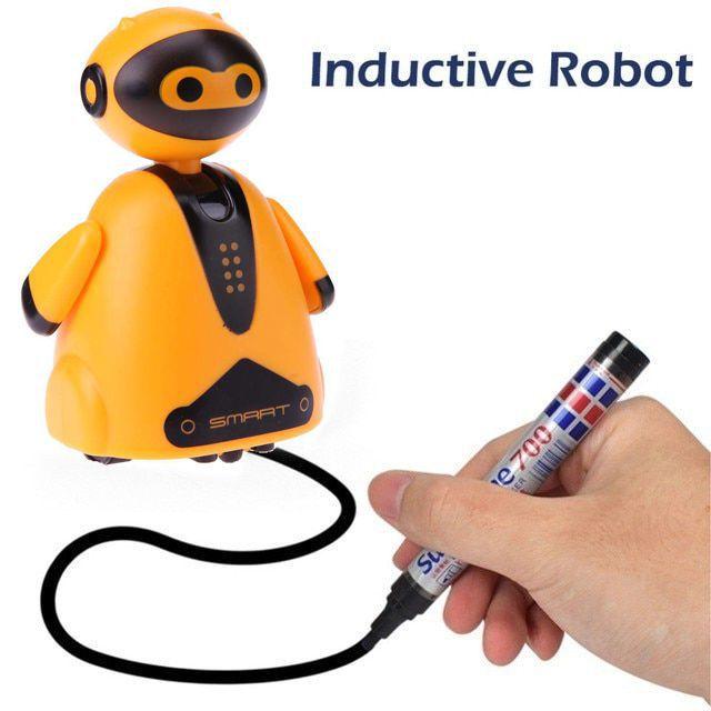Индуктивная игрушка Робот с LED сенсором, цвет оранжевый