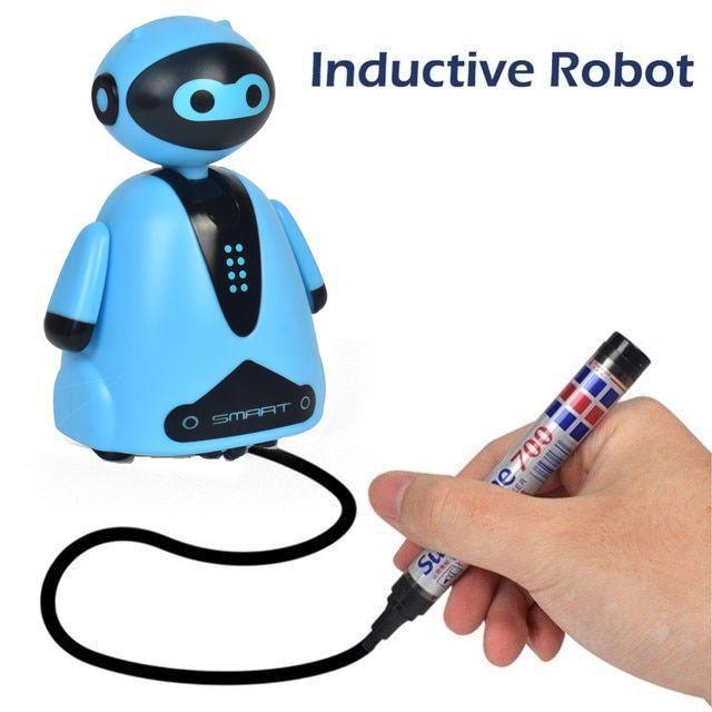 Индуктивная игрушка Робот с LED сенсором, цвет голубой