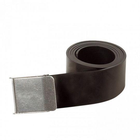 Ремень резиновый с металлической пряжкой