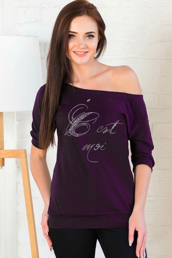 Блуза арт.0665, кулирка