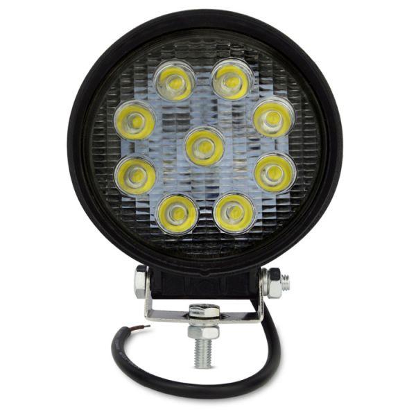 Круглая светодиодная LED фара дальнего света 27W