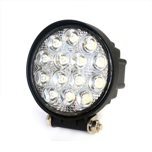 Круглая светодиодная LED фара дальнего света 42W