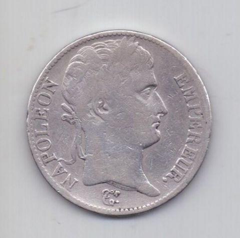 5 франков 1812 года D Лион Франция
