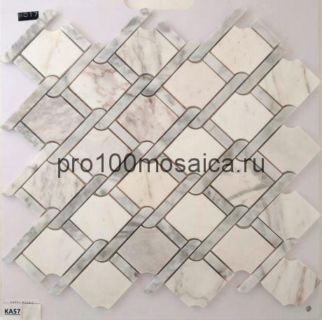 KA57 Мозаика серия Камень размер чипа 70*55, мм: 320*300*6 (Happy Mosaic)