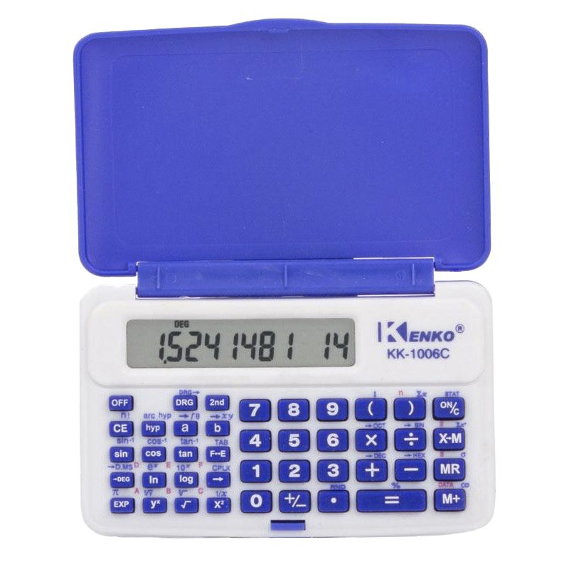 Инженерный 10-разрядный калькулятор Kenko KK-1006C, цвет синий