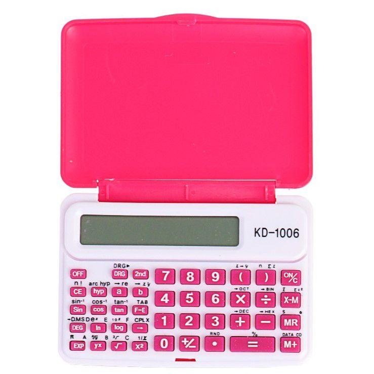 Инженерный 10-Разрядный Калькулятор Kenko KK-1006C, Цвет Розовый