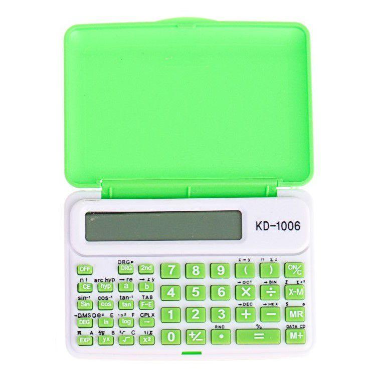 Инженерный 10-Разрядный Калькулятор Kenko KK-1006C, Цвет Зеленый