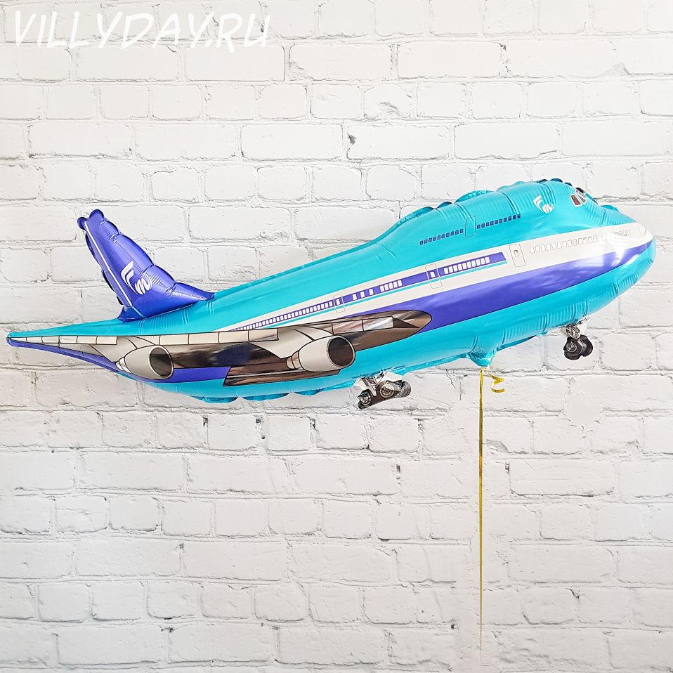 Шар (39''/99 см) Фигура, Самолет, Синий