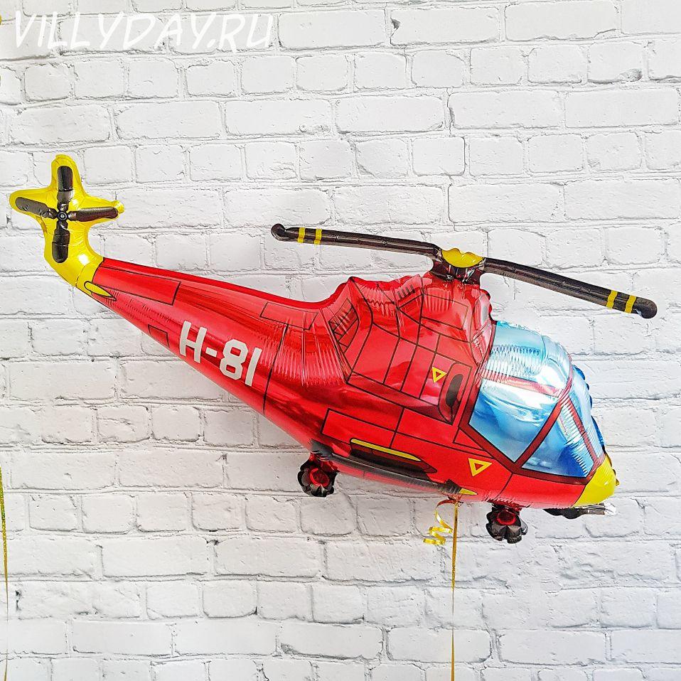 Шар (38''/97 см) Фигура, Вертолет, Красный