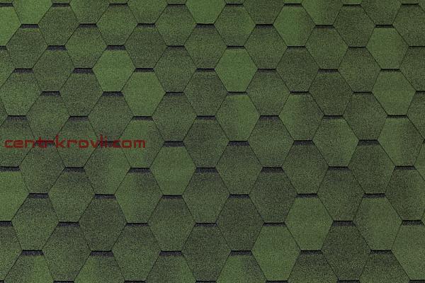 Гибкая черепица Tegola/Top Shingle/Смальто/Зеленый