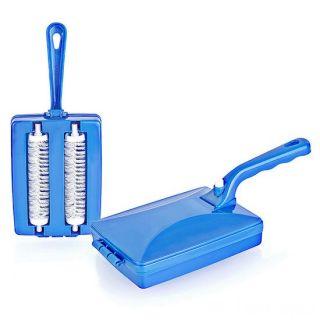 Механическая щетка для чистки ковров Ручной пылесос, Цвет: Синий