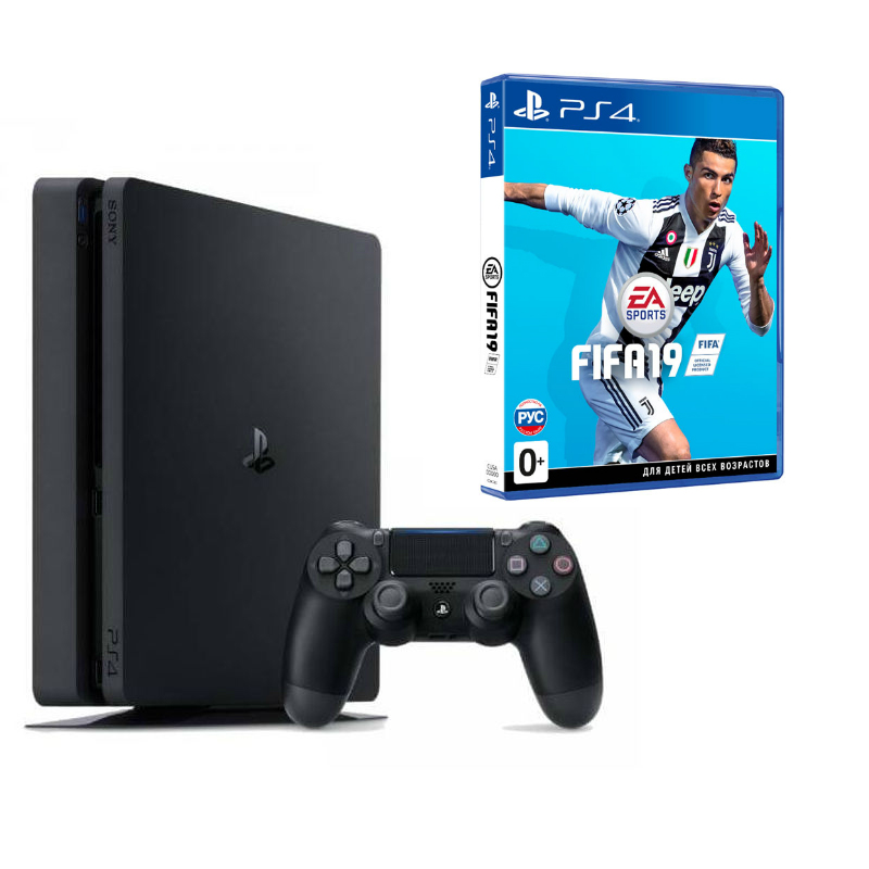 Sony Playstation 4 Slim 500 ГБ (CUH-2008A) + FIFA 19 (рус)