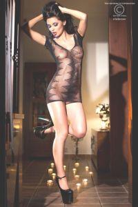 Chilirose 4052 бесшовное мини платье