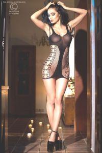 Chilirose 4054 Seamless мини платье из сетки