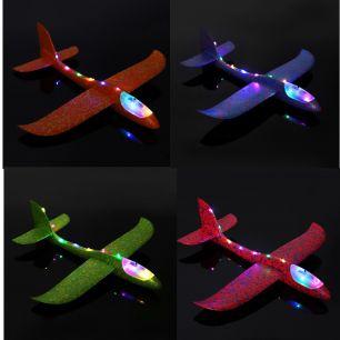 Самолет- планер 48 см. светящийся