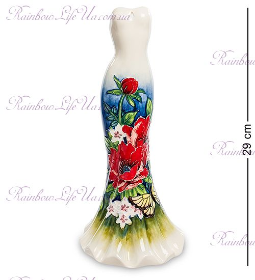 "Ваза дамское платье White flowers ""Pavone"""