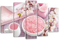 Модульная картина Розовая соль и сакура