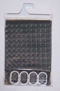 Штора для ванной комнаты (180*180 см.) с кольцами  арт.   192408