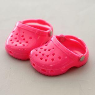 Обувь для кукол 6,5 см - кроксы розовые