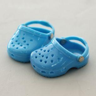Обувь для кукол 6,5 см - кроксы голубые