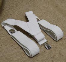 Подтяжки мужские для брюк белые