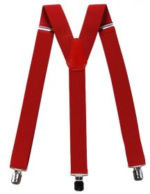 Подтяжки мужские для брюк красные