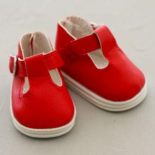 Обувь для кукол - сандалики 5 см (красные)