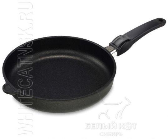 Сковорода Индукция 24 х 5 см Lotan с крышкой и съёмной ручкой