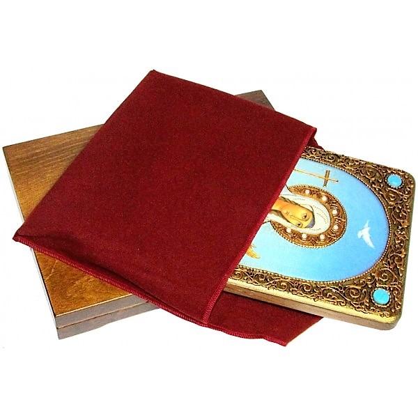 Инкрустированная настольная икона Святая мученица Иулия (Юлия) Карфагенская (21*29 см, Россия) на натуральном мореном дубе, в подарочной коробке