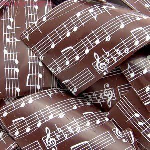 Переводной лист для шоколада НОТЫ