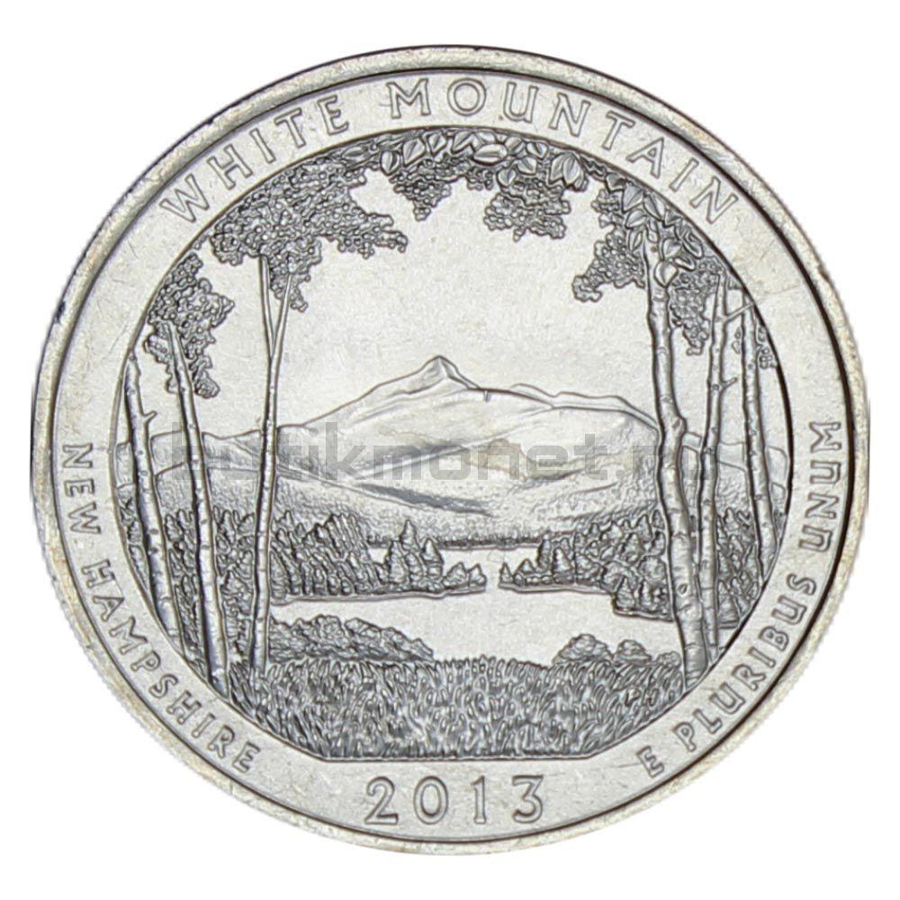 25 центов 2013 США Национальный Лес Уайт-Маунтин P
