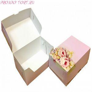 Коробка для торта, пирожных 180х120х80 РОЗА