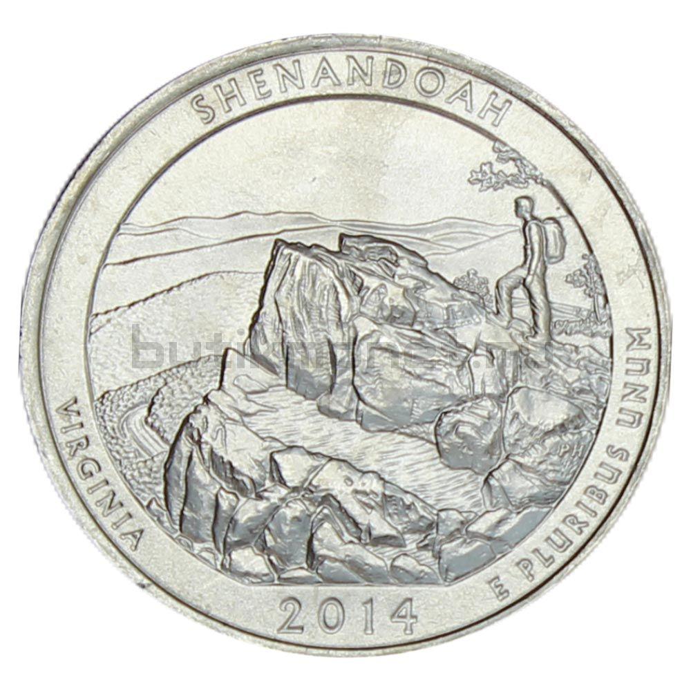 25 центов 2014 США Национальный парк Шенандоа P