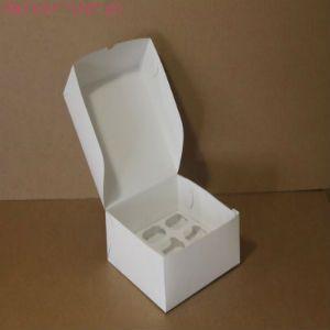 Коробка для капкейков, 160x160x100мм, на 4 капкейка