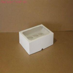 Коробка для капкейков, 250x250x100мм, на 9 капкейков, с окном